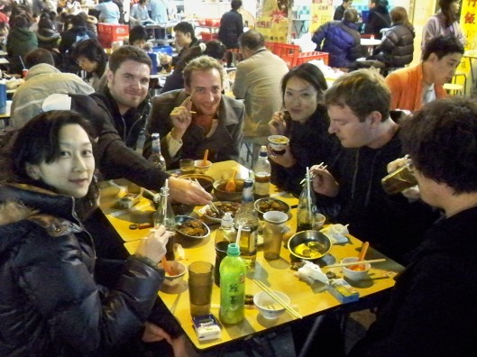 """Dinner """"Rice in a Pot"""" after the shoot with the crew."""