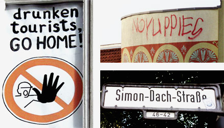 A mix of photos from Simon Dach Strasse